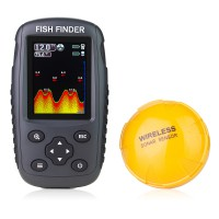 Venterior Portable Rechargeable Fish Finder Wireless Sonar Sensor Fishfinder Depth Locator with Color LCD Display