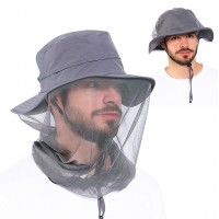 Mosquito Head Net Hat - Fishing Hat with Netting for Face and Neck Protection - Sun Hat for Outdoor Sports