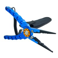 Venterior Aluminum Fishing Pliers Hook Removers Fishing Line Cutters with Coiled Lanyard and Belt Holder Sheath